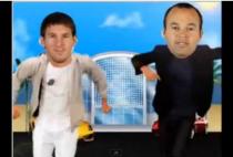 jugadores barça bailando