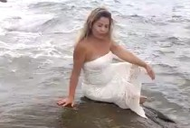 video de novia en el mar